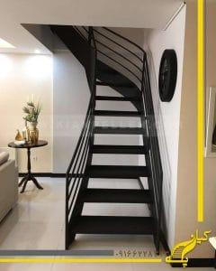 پله فلزی گرد ورقی
