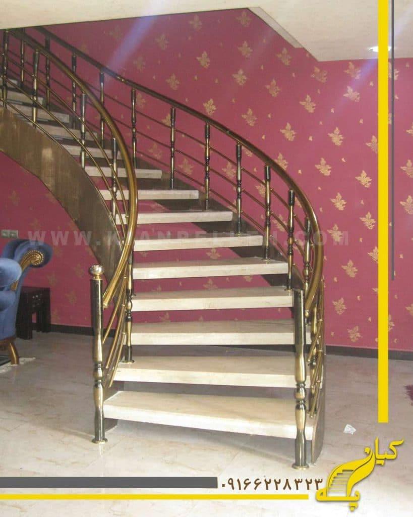 پله ورقی با روکش سنگ